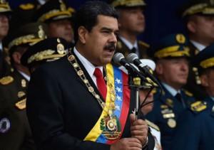 بالفيديو ..نجاة رئيس فنزويلا من محاولة اغتيال
