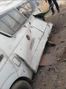 وفاة واصابات بانفجار قنبلة غاز داخل مركبة درك في الفحيص