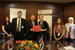 مذكرة تفاهم مشتركة بين جامعة الشرق الأوسط وسبارك الهولندية