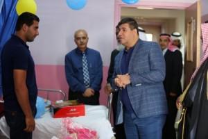 بالصور...السعود يهاتف الشياب شاكرا بعد زيارته الى مستشفى البشير برفقة وجهاء وشيوخ الدائرة الثانية