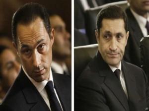 محكمة جنايات القاهرة تقرر حبس علاء وجمال مبارك