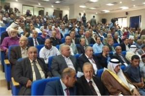 بالصور .. الفريق الوزاري يغادر لقاء أهالي عجلون
