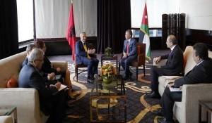 الملك يبحث مع الرئيس الألباني سبل التعاون بين البلدين