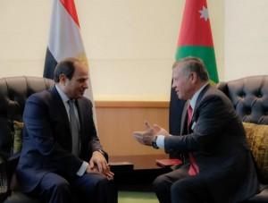 الملك والسيسي يؤكدان أن حل الدولتين السبيل الوحيد لتحقيق السلام العادل