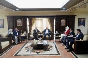 المستشارة الثقافية اليمنية تزور جامعة عمان الأهلية