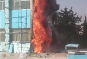 بالصور .. دفاع مدني الشوبك يخمد حريق بمدرسة