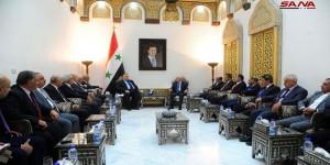 ماذا قال رئيس البرلمان السوري لوفد المحامين الأردنيين ؟
