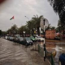 أمطار غزيرة وسيول جارفة على أجزاء من مدينة العقبة
