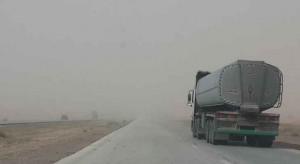 اغلاق الطريق الصحراوي بسبب السيول