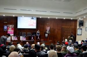 محاضرة في جامعة عمان الأهلية بعنوان سرطان الثدي و أهمية الكشف المبكر