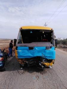 بالصور ... وفاة بحادث تدهور بين مركبة وحافلة مدرسة في مأدبا