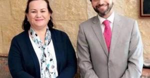 سمو الأميرة سناء عاصم تلتقي مؤسس مبادرة حرير نهاد الدباس