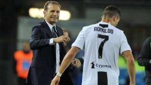 أليغري يرشح رونالدو للفوز بالكرة الذهبية بعد تقارير عن استبعاده