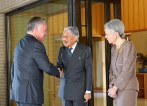بالصور... الملك والملكة يلتقيان إمبراطور وإمبرطورة اليابان