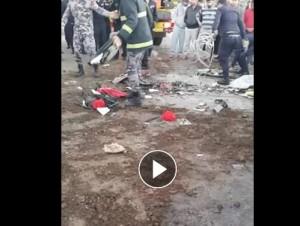 وفاة ثلاثة أشخاص وإصابة أربعة آخرين اثر حادث تصادم مروع في اربد