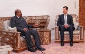 الرئيس السوداني عمر البشير في زيارة مفاجئة لدمشق
