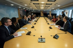 بالصور... الرزاز يلتقي المدراء التنفيذيين في مجموعة البنك الدولي