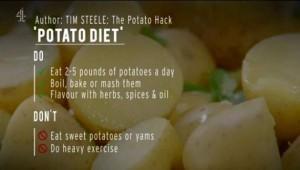 تخسر 7 كيلوغرامات من وزنها بعد الاكتفاء بأكل البطاطس