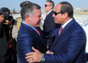 الرئيس المصري عبد الفتاح السيسي في الأردن الأحد