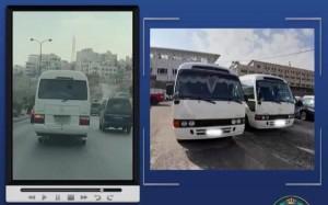 الأمن يضبط سائقين متهورين ويحتجز مركبتهما في عمان