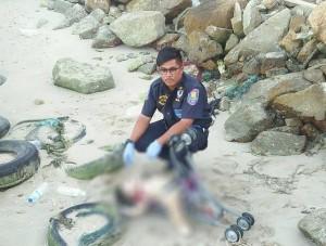 أردني ربط ابنه بعربة ورماه بالبحر في تايلاند