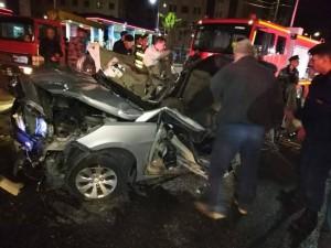 بالصور ... وفاتان وإصابة اثر حادث تدهور بالقرب من دوار المدينة الرياضية في عمان