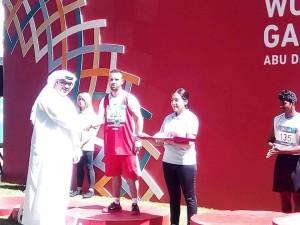 عزالدين عبده يحرز المركز الرابع في مسابقة الوثب الطويل