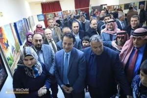 مندوبا عن وزير الثقافه الضمور يرعى حفلا فنيا لفرقة ودق في اربد