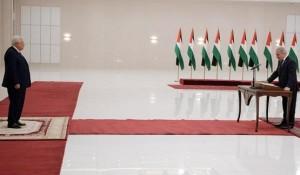 خطأ مطبعي يعيد قسم الحكومة الفلسطينية