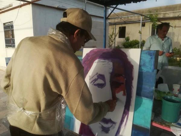 عرزال تطلق ورشة الرسم والكتابه في الاغوار الشمالية
