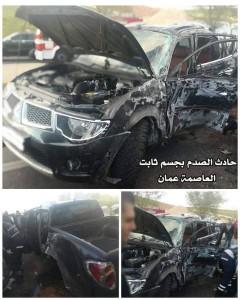بالصور.... وفاة واصابة بليغة اثر حادثين متفرقين في اربد و عمان