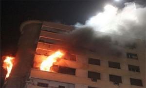 (7) اصابات بحريق شقة في الجبيهة