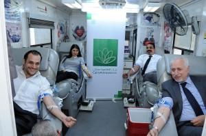 بنك القاهرة عمان ينظم حملة تبرع بالدم لموظفيه