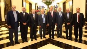 بالصور ... رؤساء مجلس إدارة ومدراء شركة البوتاس العربية السابقين على مأدبة الصرايرة