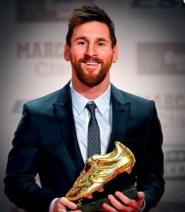 ميسي يفوز بالحذاء الذهبي لأفضل هداف في البطولات الأوروبية للمرة السادسة