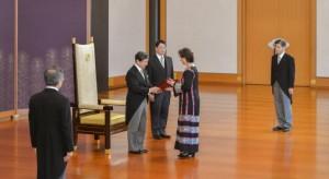 إمبراطور اليابان يتسلم أوراق إعتماد السفيرة لينا عنّاب