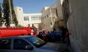 بالصور .. موظف يقتل زميله ويحرق نفسه بالمستشفى الإيطالي في الكرك
