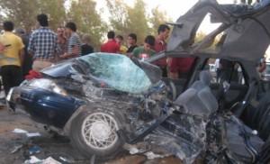 وفاة شخص وإصابة ثلاثة آخرين اثر حادث تدهور في محافظة الكرك