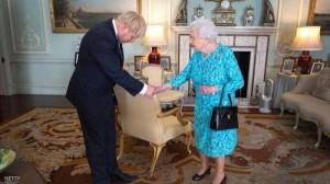 بعد لقائه الأول بالملكة .. جونسون يخرق البروتوكول