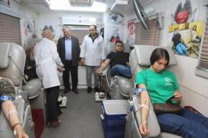 مركز صحي جامعة البترا ينظم حملة للتبرع بالدم