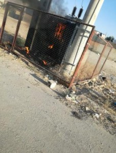 انفجار محول كهربائي رئيسي في منطقة الجوفة بالاغوار الجنوبية