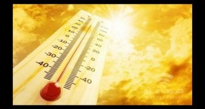 ارتفاع على درجات الحرارة وطقس حار نسبياً