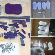 ضبط 16 مروجا للمخدرات وبحوزتهم 8 اسلحة نارية