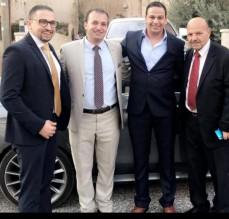 رجل الأعمال ايمن ابو هنيه يتقدم من ابن العم الدكتور أحمد أبو هنيه بأحر التهاني