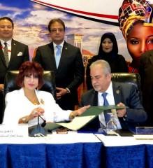 اتفاقية تعاون بين عمان الاهلية واتحاد المستثمرات العرب في القاهرة