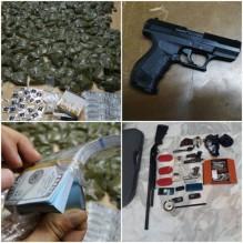 القبض على 22 مروجا للمخدرات بحوزتهم 7 اسلحة نارية