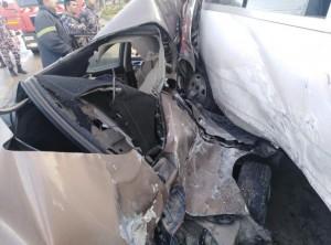 وفاه شخص وإصابة ثمانية آخرين اثر حادث تدهور في محافظة البلقاء