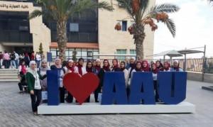 جولة لطالبات أكاديمية جسور المعرفة في جامعة عمان الأهلية