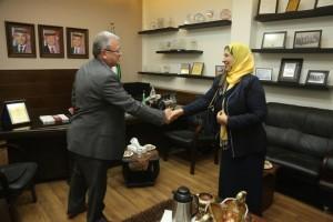 رئيس جامعة البترا يستقبل الملحق الثقافي اليمني