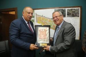 وزير التعليم العالي الفلسطيني يزور جامعة البترا